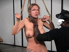 Rain DeGrey is submissive in nature, but after this painful session, she will be happy to see herself in dominating position. Jack Hammerx wrapped her face in cover and tortured her in all possible ways. In that painful condition also, she experienced heavy orgasm, which proves her real sultry nature