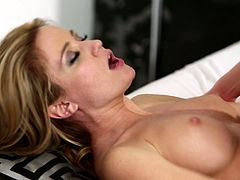 Blondes with luscious shaved pussies lick each other tenderly