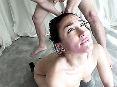 Gabriella Paltrova gets the pussy fuck of her dreams with horny guy Bill Bailey after she takes it in her mouth