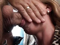 Alexa Bold has fire in her eyes as she gets her back yard nailed good and hard by Rocco Siffredi after cock sucking