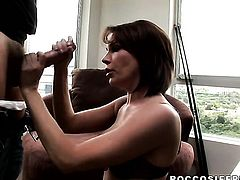 Adrianna Nicole wants Marco Banderass pole in her mouth badly after she gets fucked in her backdoor