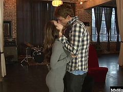 After breaking up with her boyfriend, the beautiful long haired brunette Remy Lacroix calls her landlord and tells him to come up to her apartment because shes naked and horny. Soon, hes suckling on her hooters and licking her bubble butt crack, until he fucks her moist snatch while she massages her clitoris for an orgasm and a pearl necklace cumshot.