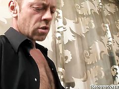 Angelica Heart with huge tits and hard cocked guy Rocco Siffredi satisfy their anal desires together before she gets her mouth used