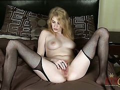 Blonde Allie James wants this solo sex session to last forever