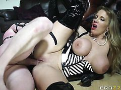 Milf with giant hooters gets ass hardcored