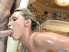 Nikki Benz with phat bottom has dick-hungry love tunnel and takes mans schlong