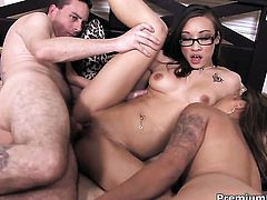 Hot blooded exotic sweetie Nipsy Doll finds it exciting to be cum glazed