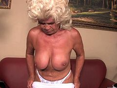 Many of us fantasize about sex with much older women. Granny you'd love to fuck as we call them, sure can be very tempting, especially, if they are still built rather well. Franscina is one of those grannies with big saggy tits and perky ass. Who wouldn't love to fuck her?! She's old, but gold!