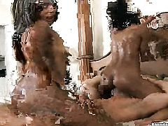 Brunette Misty Stone gives suck job like no other and hard dicked dude knows it