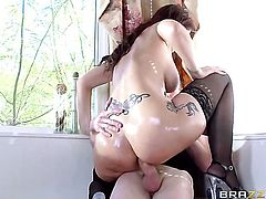 Syren De Mer with huge breasts cant live a day without taking Danny Ds throbbing worm in her backdoor