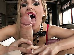 Rocco Siffredi uses his beefy meat stick to bring blowjob addict Tanya Tate with juicy breasts to the height of pleasure