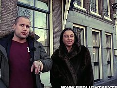 Amsterdam red light district is famous worldwide and if you have money, you can have sex with beautiful babes. Nikki is very cooperative and when I asked her to show boobs in the restaurant, she happily obliged. I will never forget this fucking session, as this is once in a life time experience.