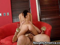 Ralph Long buries his throbbing snake in unthinkably sexy Jenni Lees fuck hole