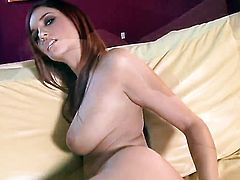 Jayden Cole touches her hooters in a playful manner