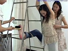 China beauty foot tickling torture_part1