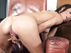 Devilishly sexy chick Lucy heart needs nothing but a sex toy in her beaver to get satisfaction