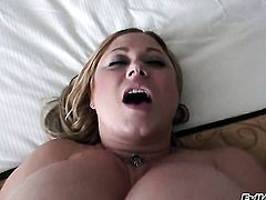 Samantha Anderson plays with her clit as she gets her hole fucked by Manuel Ferrara