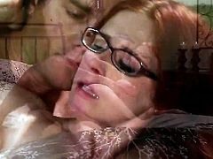 Lustful bombshell Penny Pax lets man put his sausage in her mouth