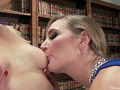 Sensual Kelli bends over and opens up her ass cheeks, so the lovely Birtish slut Mona, can perform one of her stellar rimjobs. They kiss and shemale loves the taste of her own ass on the hot slut's lips. Time for cock sucking.