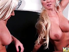 Blonde chachita Molly Cavalli with big booty is on the way to the height of pleasure in solo scene
