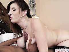 Brunette exotic seductress Jovan Jordan with big boobs and trimmed muff loves getting her eager hands fucked by her horny fuck buddy