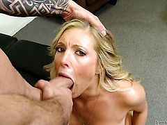Glammed up gal Domenic Kane enjoys hard sex too much to stop