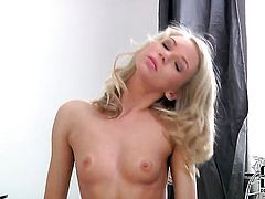 Olli with small breasts and trimmed cunt proves that her body is amazing as she masturbates naked
