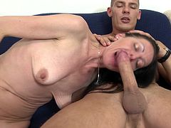 Mature beauty is totally ready for another pussy spooning session