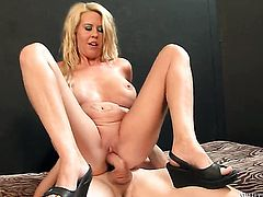 Chad Diamond gets her mouth attacked by guys beefy rock hard schlong
