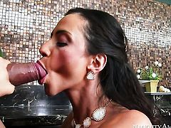 Ariella Ferrera with huge melons feels great with mans throbber fucking her hands hard