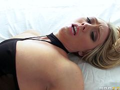 hot blonde gets her ass pounded