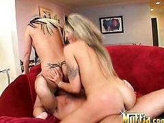 Blonde with trimmed muff playing with herself for cam