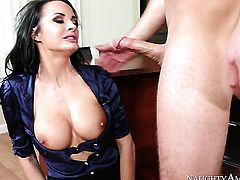 Brunette oriental kitty Daniel Hunter enjoys another great cumshot session