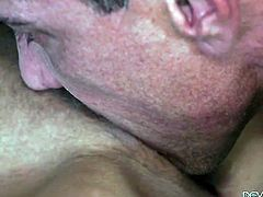 Marco Banderas cant wait any longer to stick his boner in extremely horny Britney Ambers mouth