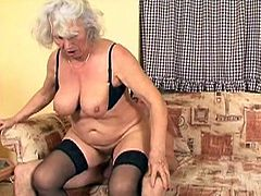 When granny Marinoka has visitors, she gives her best to make them feel great. This mature whore is ridding her man with pleasure. She loves having cock in her fat pussy, just as much as she likes it in her mouth.