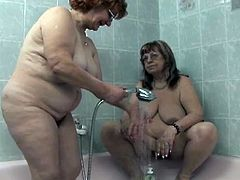 Orhidea and Vanessa are two old single ladies, who did not have sex for a long time. Watch them shower together, sucking tits, touching each other. Vanessa wants a good fingering in her big twat. Watch and see if she gets it.