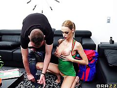 Blonde chachita asks her man to stick his meaty love torpedo in her mouth