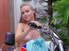Visit official Playboy's HomepageBlonde angel shows off her amazing ass and big tits in special scenes of outdoor nudity, teasing with slow moves and plenty of sensual touches