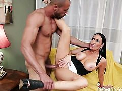 Mature oriental Karlo Karrera with trimmed twat cant get enough and takes mans hard pole in her loose love hole again and again in interracial hardcore action