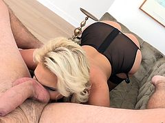 Manuel Ferrara's girlfriend gave him special treat. She put his big cock on her cleavage and licked his balls. She rubbed his dick between her bums and did a rimjob. Manuel inserted his cock in Phoenix's mouth and fucked her. Then she sat on his dick in reverse cowgirl position and started to...