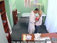 Hot student sucking cock of doctor in hospital