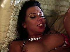 Rachel Starr gets her mouth stretched by guys throbbing ram rod