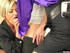 Klarisa Leone and Sindy Vega are fully aware that urinals and toilets exist, but theyd rather be the receptacles of the urine men need to expel from their bladders, so watch them get down and nasty with this blonde hunk.