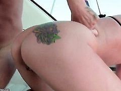 Blonde Angel Long gets her anal hole invaded
