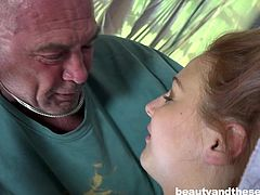 Emily Rose has a thing for seniors. She has lots of hard dicks, but nothing compares with the challenge of sucking an old cock. Of course, it was piece of cake for her to give him a big boner. Watch and enjoy the details.