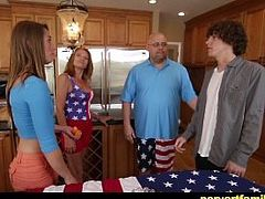 Naughty 4th july Party! Teen gets fucked by her new stepbrother