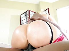 Mellanie Monroe gets banged in her pussy hole in interracial porn action