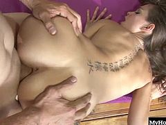 Riley Reid has a lot of yoga to practice, but her man is more focused on getting his face inside of her pussy so its nice and wet when he slides his cock in. She moans in pleasure as soon as he gets his tongue on her fresh pink lips, and after getting stretched out by his thobbing pole, she makes a mental note to always practice in front of him.