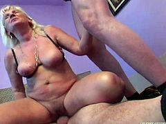 Granny was lying nude in room, so me and my friend decided to fuck her. I lifted her leg and inserted my cock in her pussy. She asked my friend to insert his dick in her mouth and fuck brutally. First we drilled her holes in reverse cowgirl position and then from behind. We filled her mouth with cum.