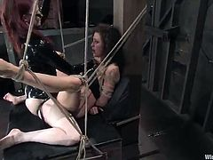 Lesbie roped movie not far from dildoing And Strapon porn inside Dungeon